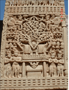 Fig 7: Tree Worship , Sanchi Mahastupa ©Kanchan Tuli 2010