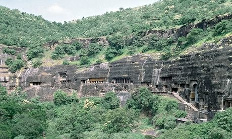 The Ajanta caves. Photograph: Getty
